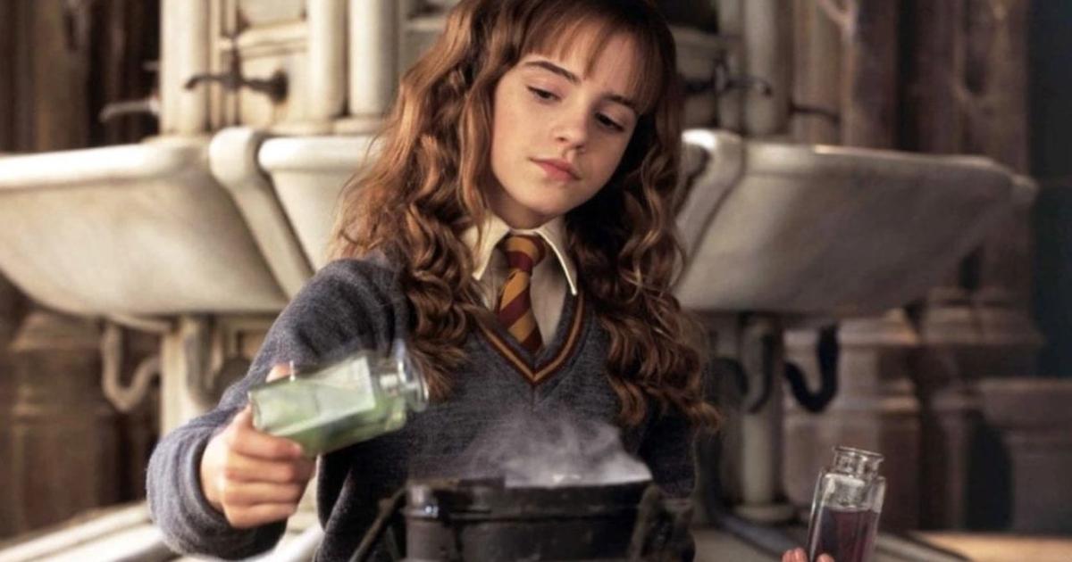 hermione granger sta preparando una qualche pozione - nerdface