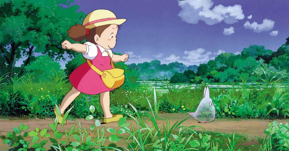 la piccola protagonista segue su un sentiero uno spiritello - nerdface