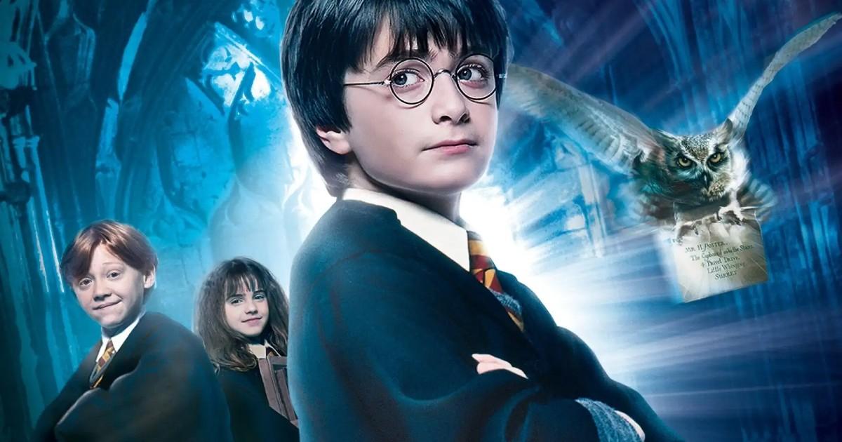 Harry Potter insieme ai suoi compagni Ron e Hermione - nerdface