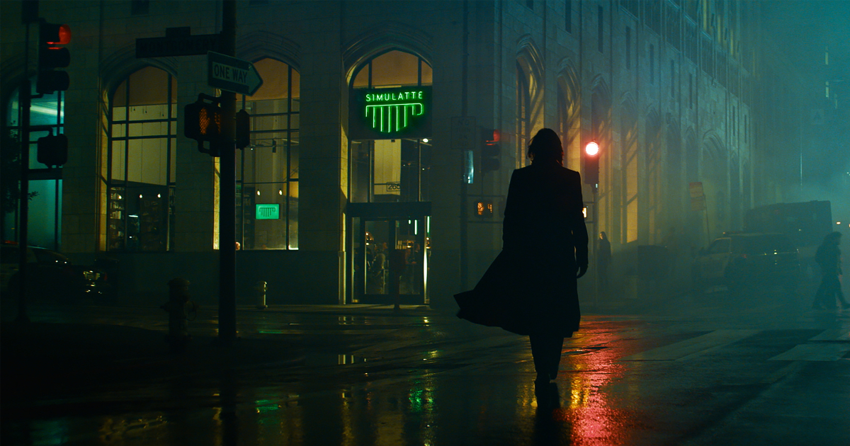 neo cammina nelle notti della città - nerdface