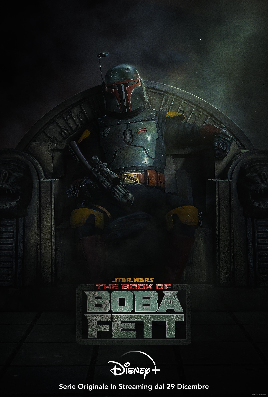 la key art di the book of boba fett mostra il protagonista seduto comodamente su un trono - nerdface