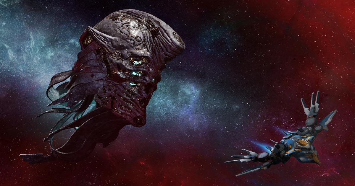 una nave aliena enorme è davanti a quella dei guardiani - nerdface