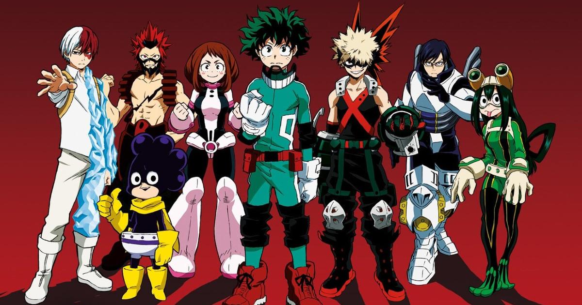 la line up dei protagonisti dell'anime - nerdface