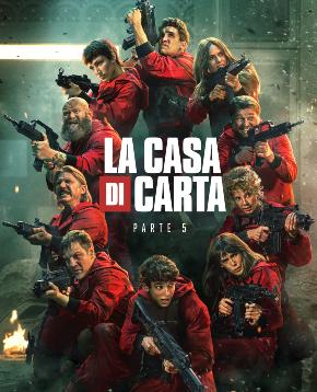 il poster ufficiale italiano de la casa di carta parte 5 volume 1 - nerdface