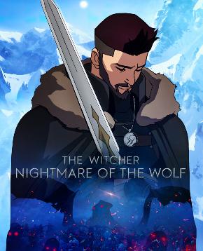 il poster ufficiale di the witcher nightmare of the wolf mostra il protagonista perso nei suoi pensieri e con la spada poggiata sulla sua spalla - nerdface