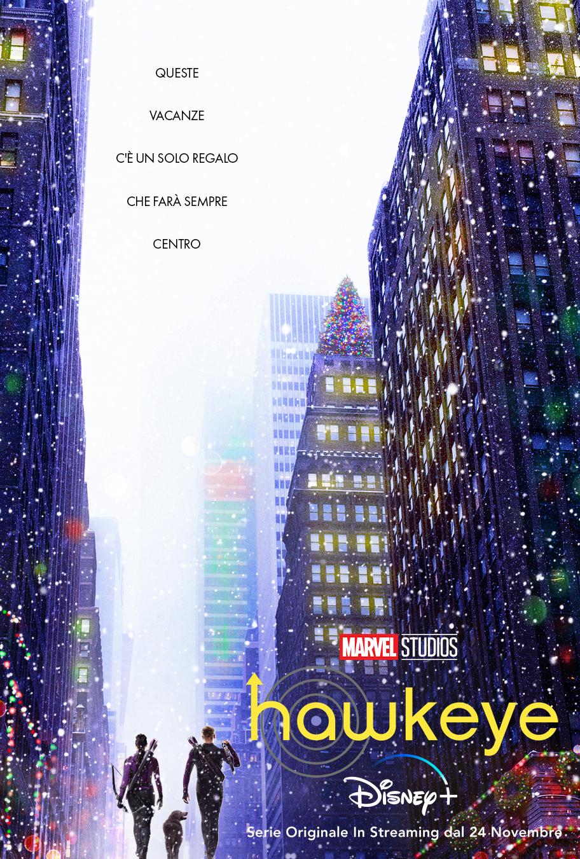 il poster ufficiale di hawkeye vede i due protagonisti di spalle tra i grattacieli americani - nerdface