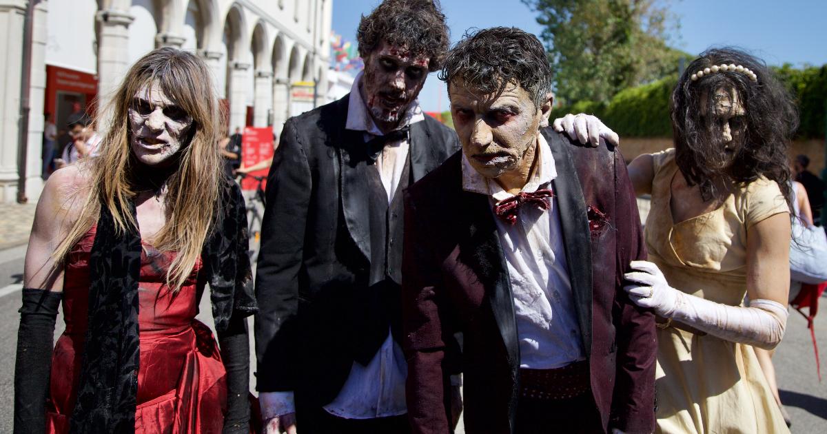 i quattro zombie sul red carpet - nerdface