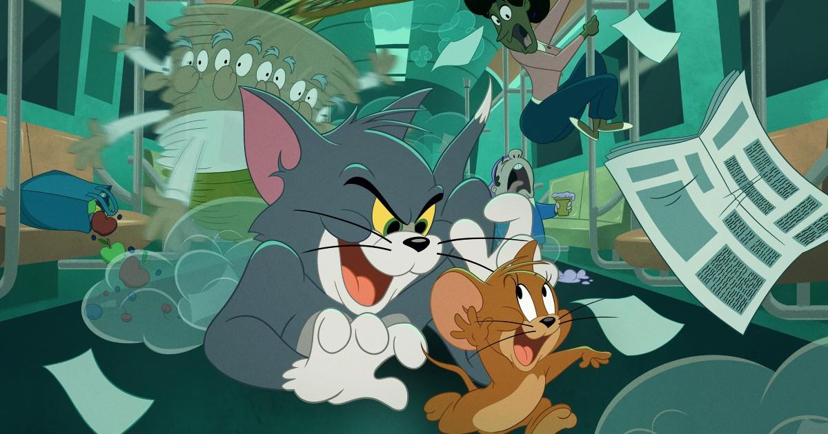 Tom insegue Jerry all'interno di un vagone della metropolitando gettando i passeggeri nel panico - nerdface