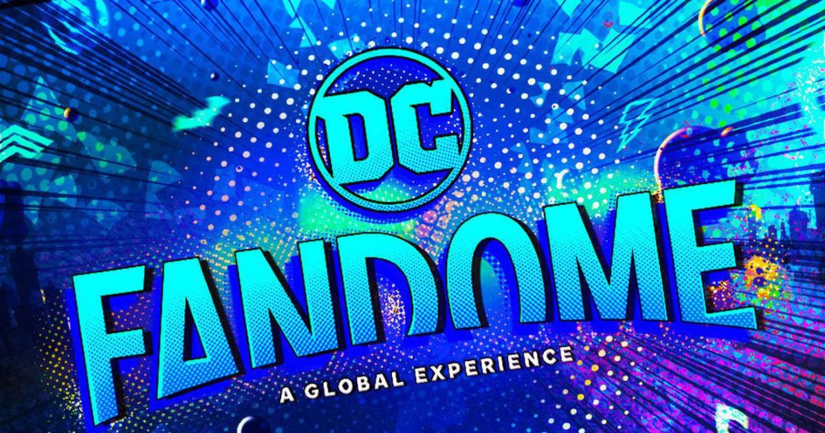 un banner col logo fluo del dc fandome 2021 - nerdface