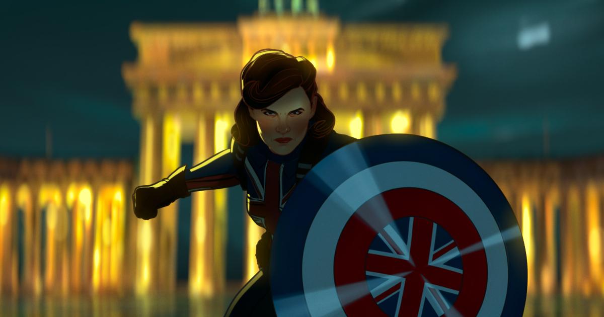 capitan america è una donna e ha lo scudo con la bandiera del regno unito - nerdface