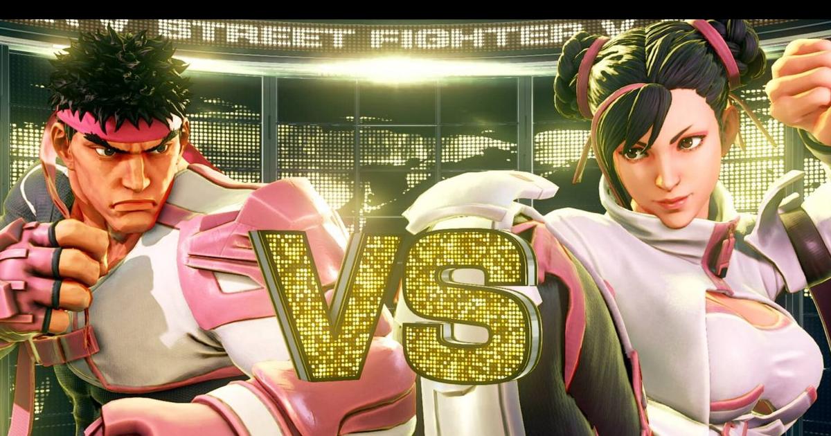 Street Fighter V Chun-li e Ryu sono vestiti di rosa, pronti per il combattimento. Nerdface