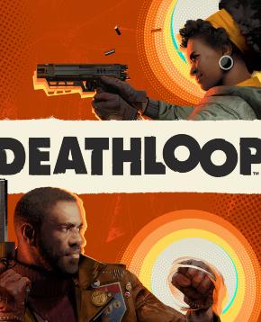 la cover ufficiale di deathloop mostra i due personaggi armati - nerdface