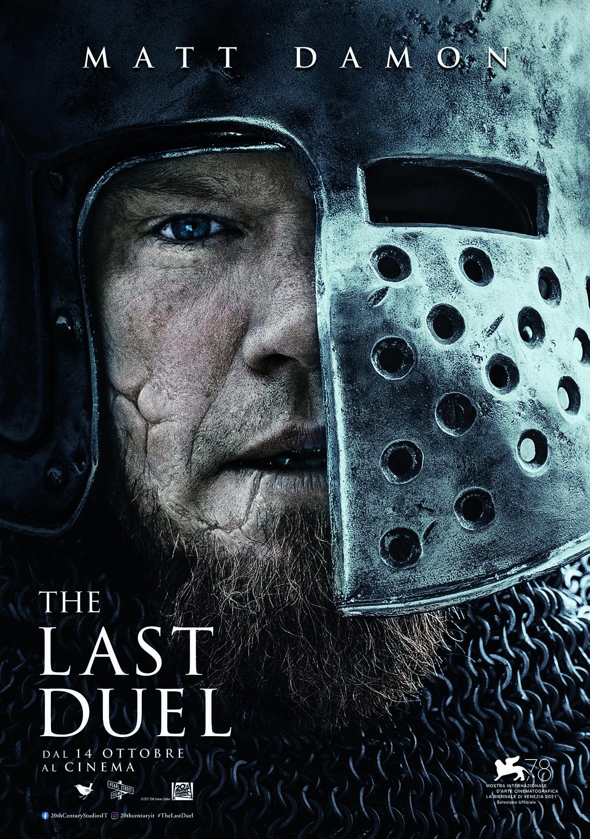 il poster di the last duel con matt damon - nerdface