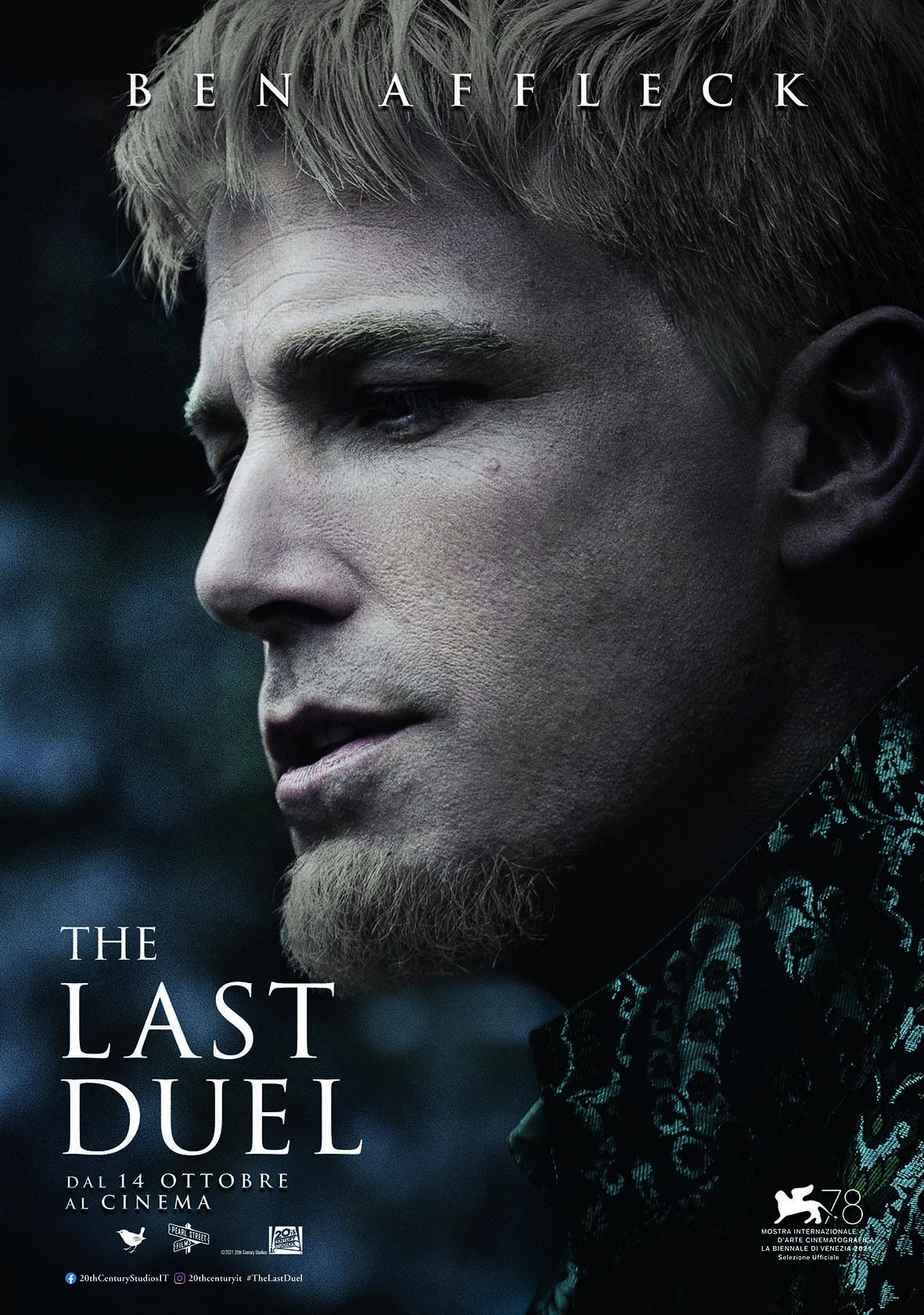 il poster con ben affleck di the last duel - nerdface