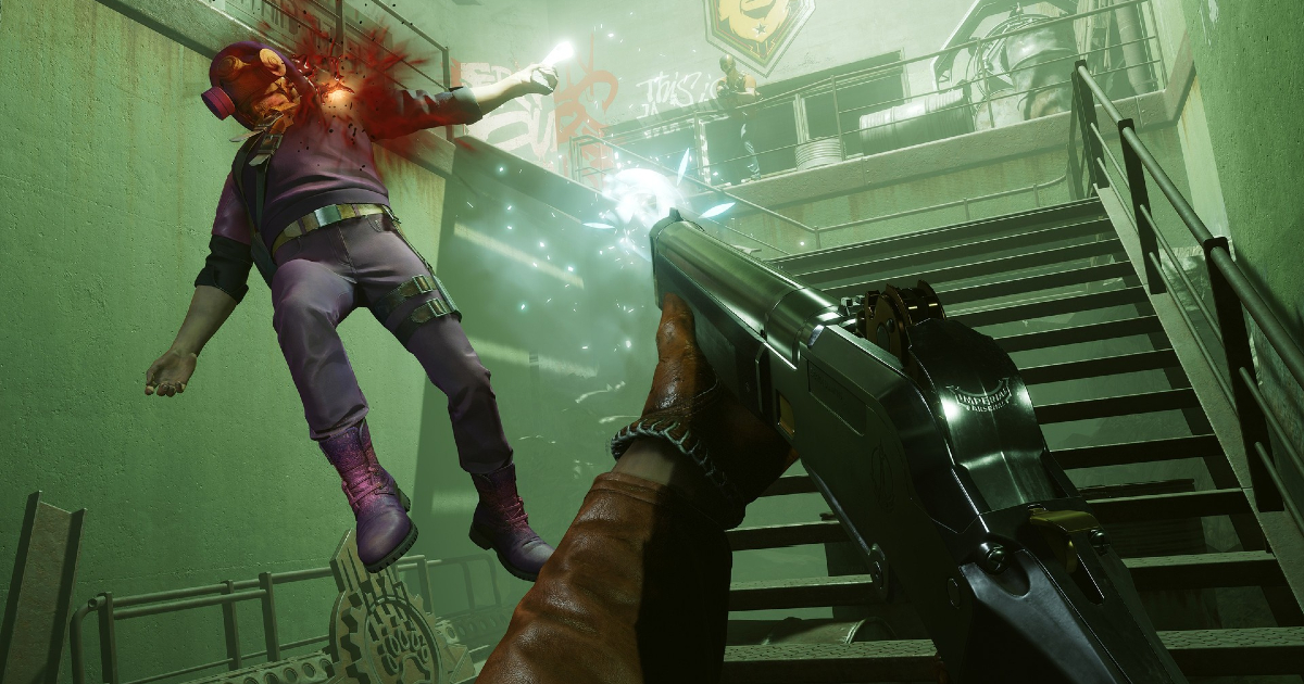un uomo schizza in aria nel sangue dopo essere stato colpito dalla tua arma da fuoco - nerdface