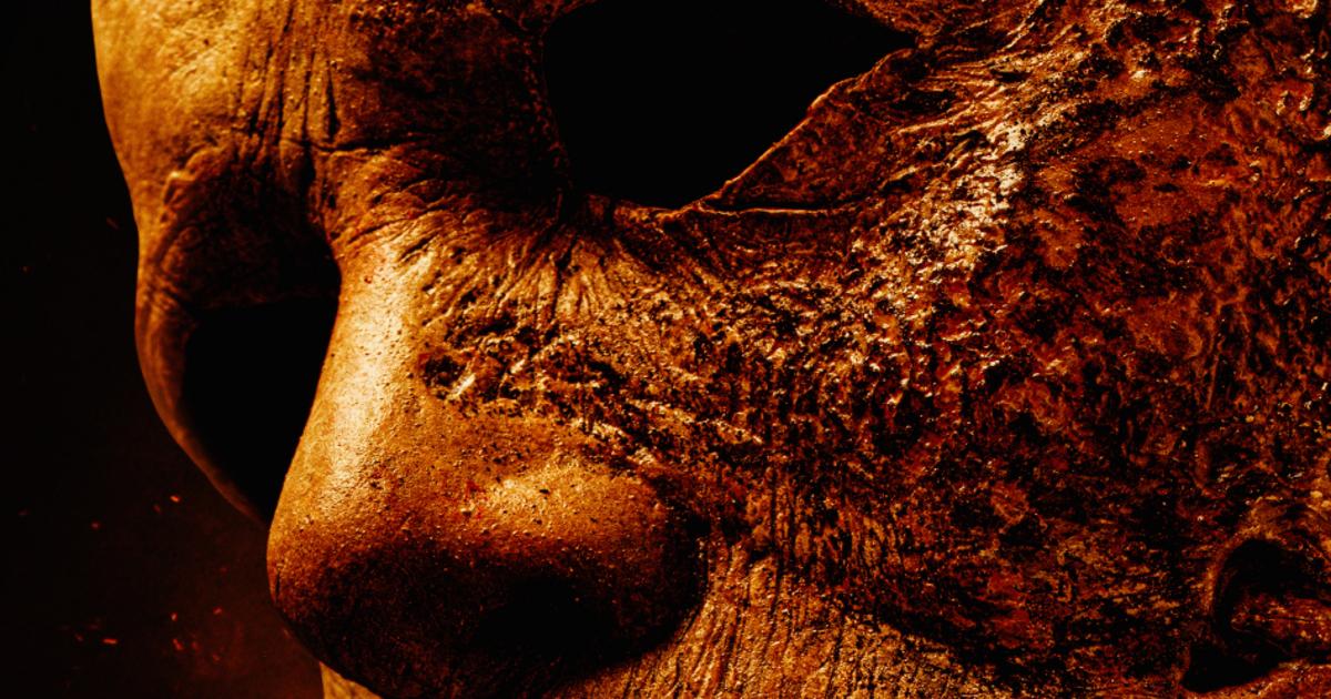 il dettaglio della maschera di michael myers - nerdface