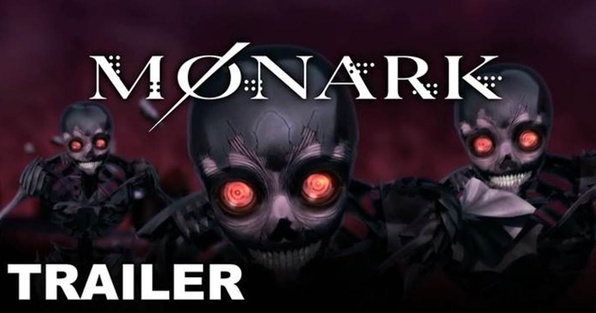 nel trailer di monark tre scheletri inquietanti dagli occhi rossi ti guardano.Nardface