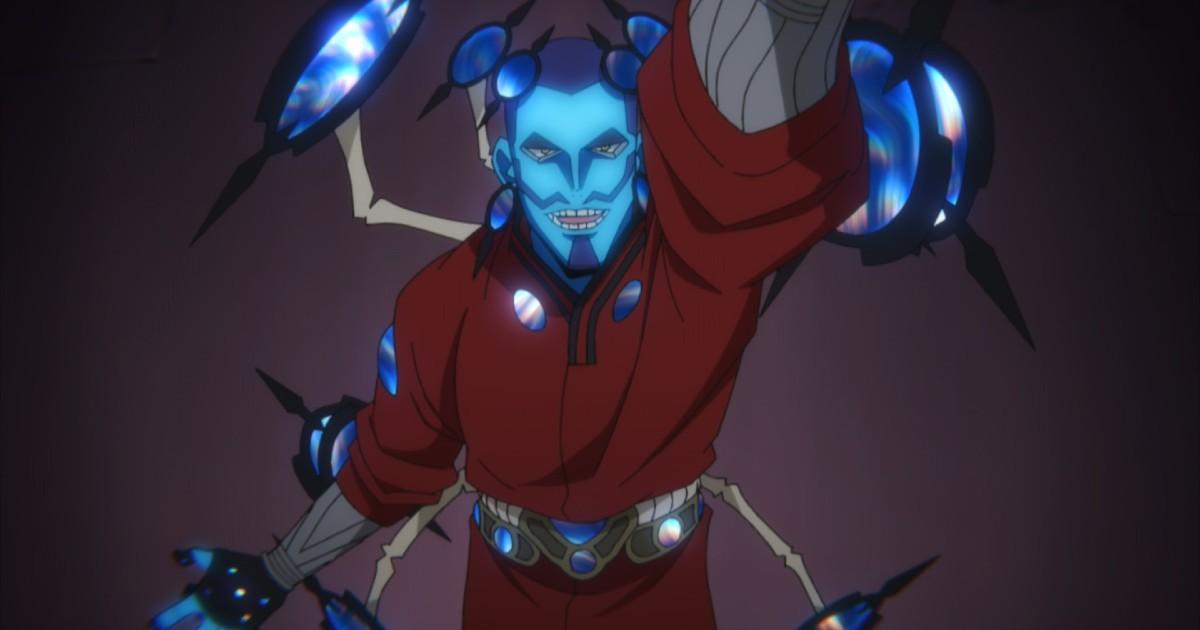 Uno degli antagonisti blu di My Hero Academia: World Heroes' Mission - nerdface