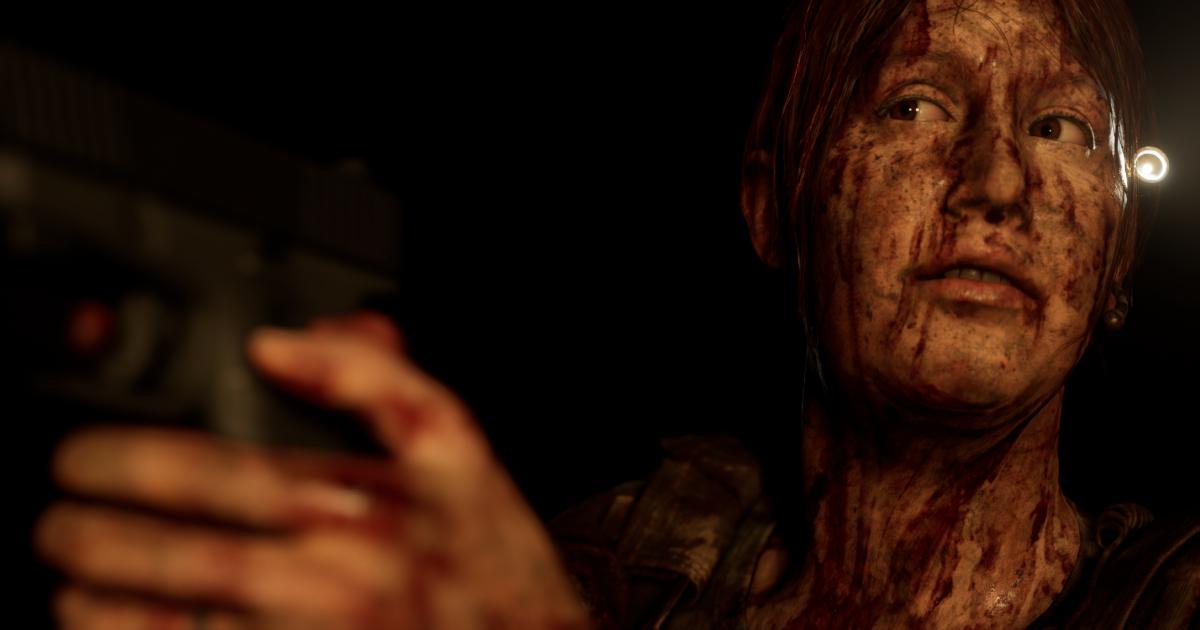 la protagonista è sporca e impugna una pistola - nerdface