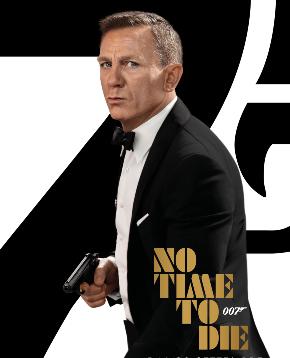il poster di no time to die mostra il canonico 007 in smoking e pistola in pugno - nerdface