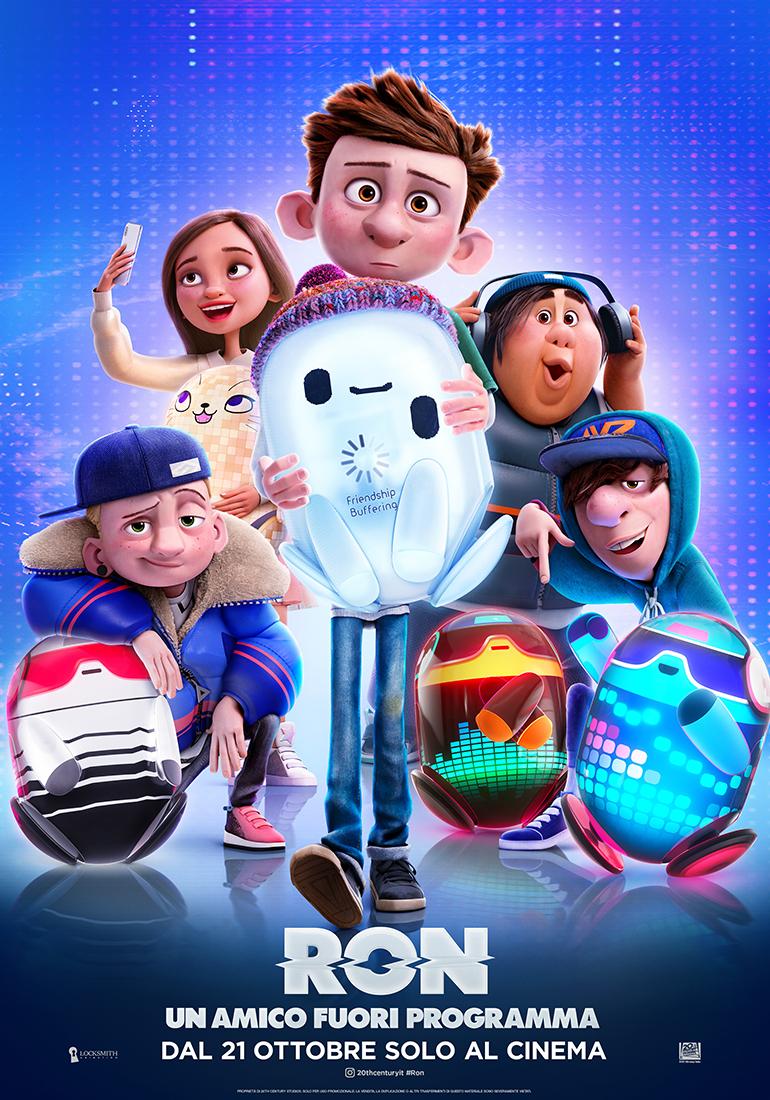 il nuovo poster di ron mostra il robot difettoso circondato da amici umani - nerdface