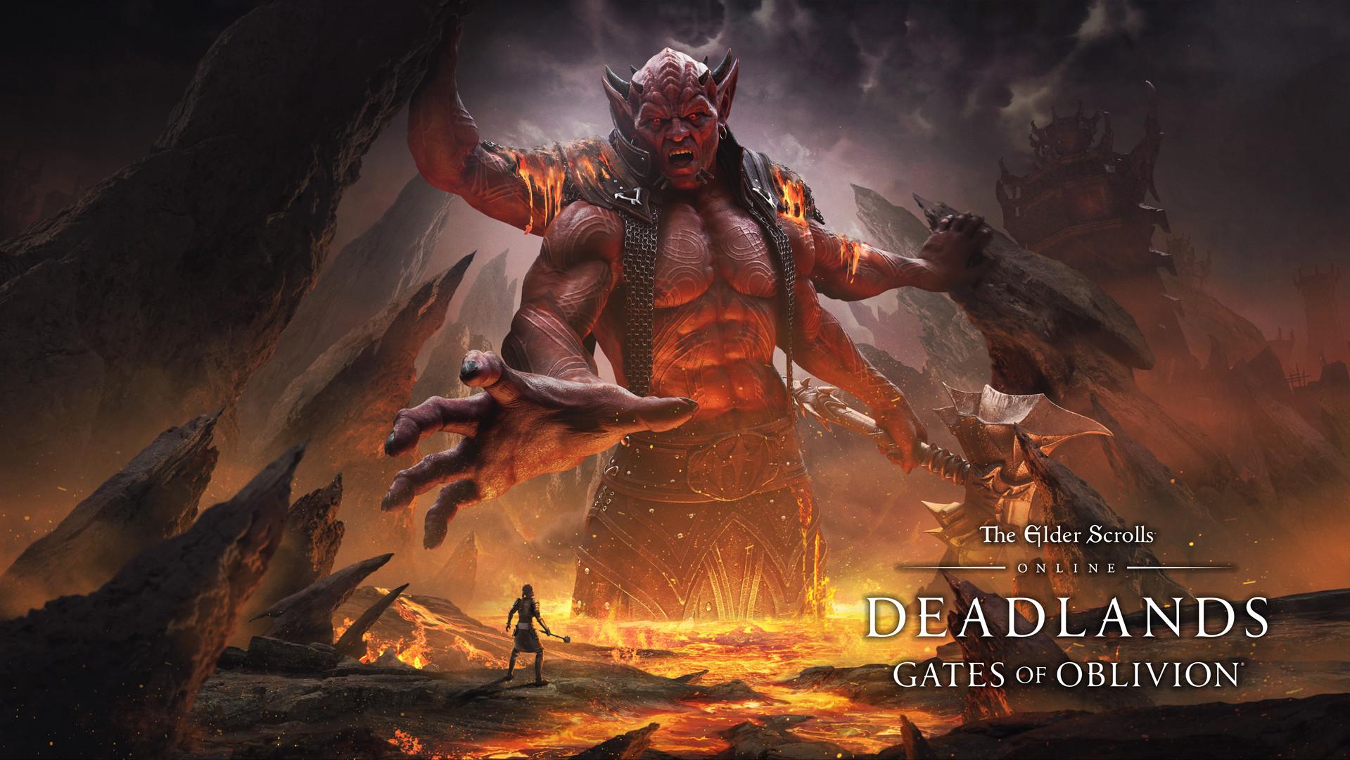 Un gigantesco demone esce fuori dalla lava - nerdface