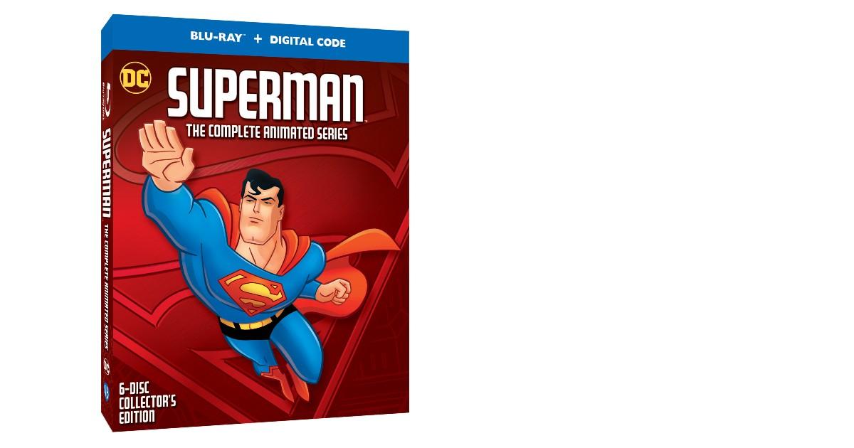 la cover dell'home viudeo per i 25 anni di superman the complete animated series - nerdface